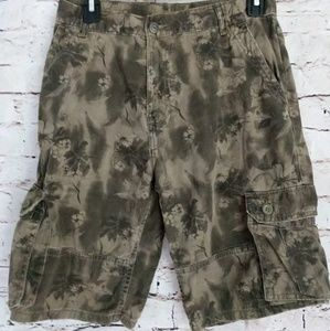 Boys Hawaiian Print Cargo Shorts 16R G10